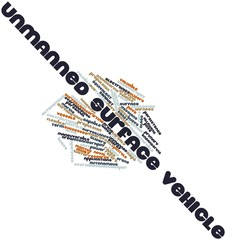 Word cloud for Unmanned surface vehicle