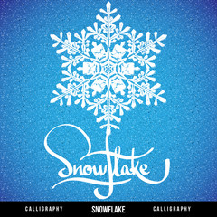 Natural Christmas snowflake