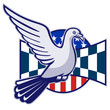 Racing Pigeon Race Flag American Stars Stripes