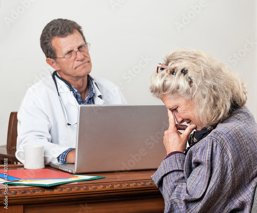 Woman Patient Gets Bad News at the Doctor's Office