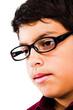 Caucasian Boy Wearing Eyeglasses