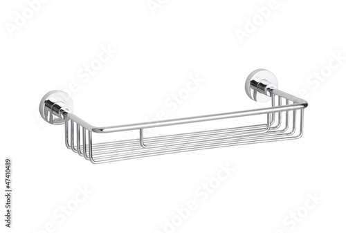 Nice aluminum bathroom accessory shelf isolated