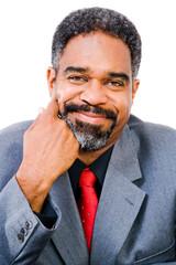 African American businessman posing