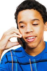 Teenage Boy Talking On Mobile Phone