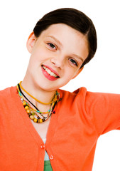 Close-up of girl smiling