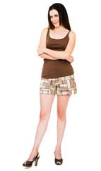Caucasian woman posing