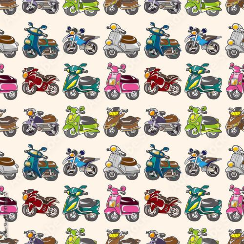 seamless motorcycles pattern - 47413247