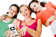 Lying woman photo messaging with daughters