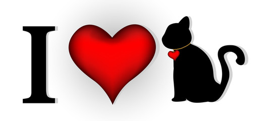 i love cat for you design