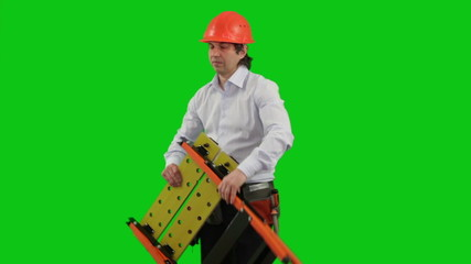 Builder. Green Screen.