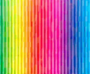 Painted Rainbow Wall