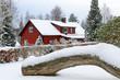 Winter symbols in Swedish village