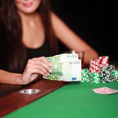 Spielsüchtige im Casino