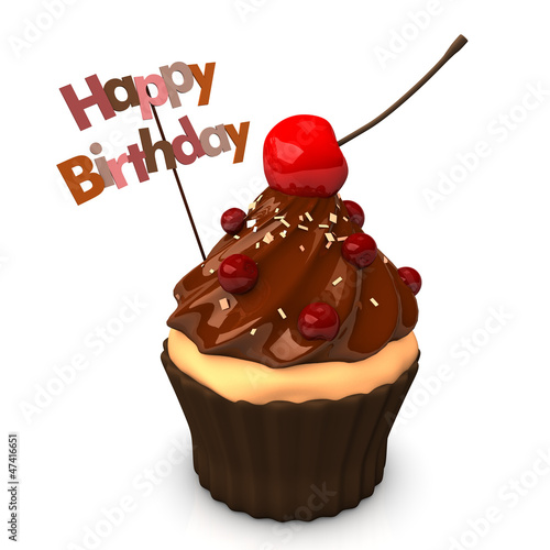 canvas print picture Happy Birthday Choco Cake