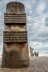 Monument to the fallen at Omaha Beach