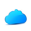 Cloud in blue