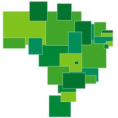 ブラジル 地図 フレーム 四角