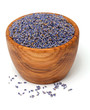 wooden bowl with lavender petals