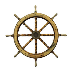 Steering wheel of the ship