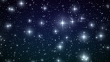 Stars falling like snowflakes. HD 1080. Looped animation.