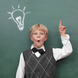 Boy at the Blackboard with Idea