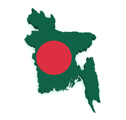 Bangladesh Map 3d Shape
