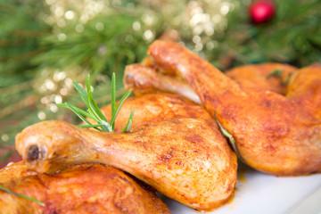 weihnachtliche Hähnchenschnekel