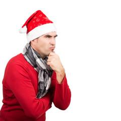 Grimmiger Weihnachtsmann, isoliert