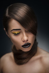 beauty woman with stylish makeup