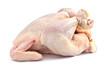 Fresh raw chicken isolated on white
