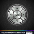 Vector Menu Interface on Leather Background