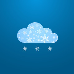 Weather in cloud. Vector. Winter theme