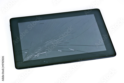 Leinwanddruck Bild Cracked tablet