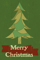 Vintage style Merry Christmas graphic