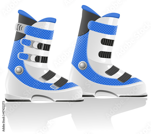 ski boots vector illustration