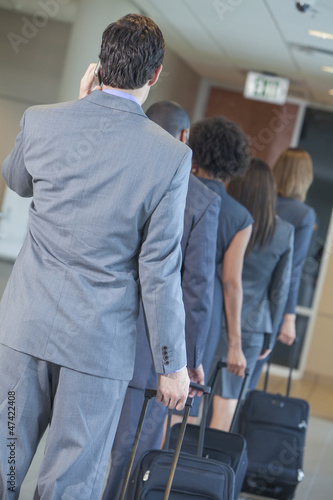 Businessmen Businesswomen Airport Traveling