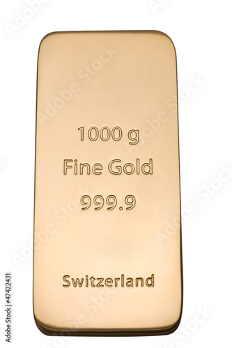 Ingot of bank gold.