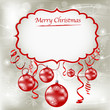 Merry Christmas background red and silver design