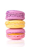 Colorful  delicious macaroons