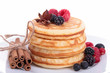 stack of pancake with berry