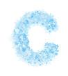 Leinwandbild Motiv Letter C, frosty snowflakes