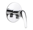 Modern chrome faucet the bathtub accessories isolated