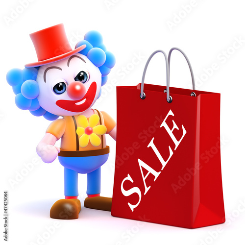 Clown has been to the Sales for bargains