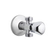 Chrome faucet the bathtub accessories isolated on white