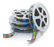 Film reels with filmstrips