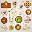 Set Of Organic Food Labels And...