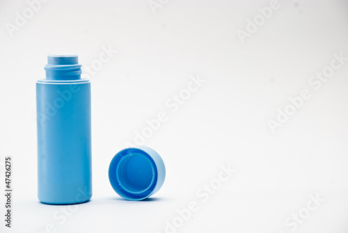 Baby powder bottle isolated
