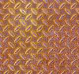 Rusty metal patterned plate background