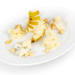 cheese plate. isolated on white background