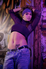 Young woman dancer posing
